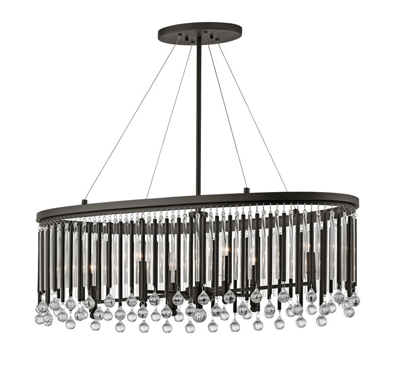 piper oval chandelier