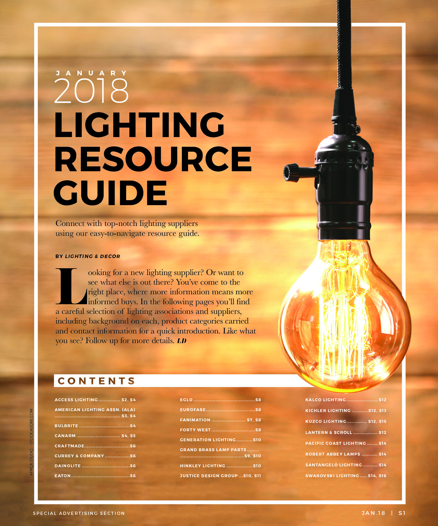 Lighting Resource Guide for suppliers Lighting & Decor