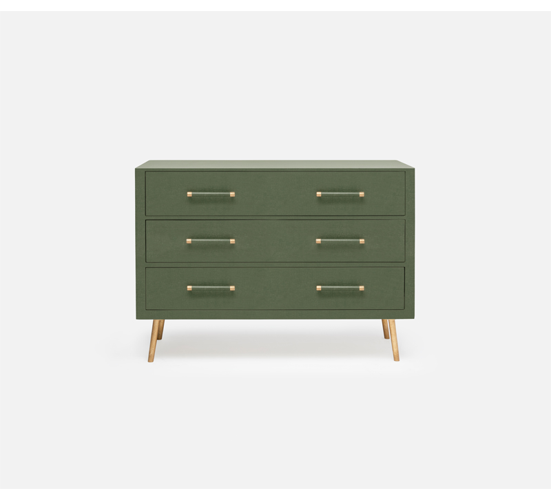 Alene dresser with three drawers in green from Made Goods