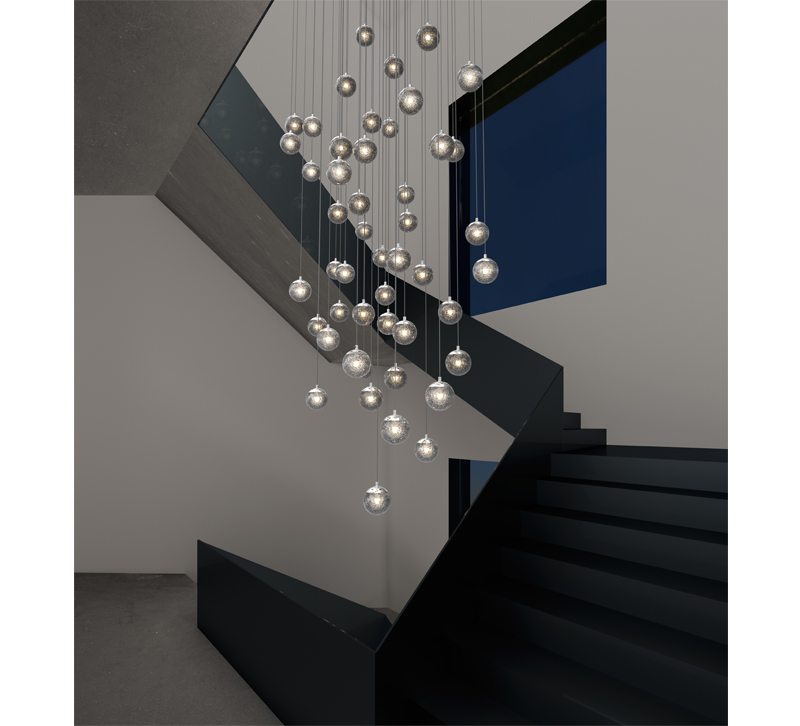 Fixtures Like Champagne Bubbles From Sonneman Add A Little Extra Light And  A Lot Of Unique Style To Otherwise Dim Stairwells.