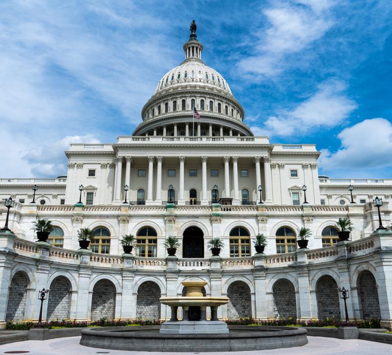 Exterior of the U.S. Capitol Building in Washington, D.C.