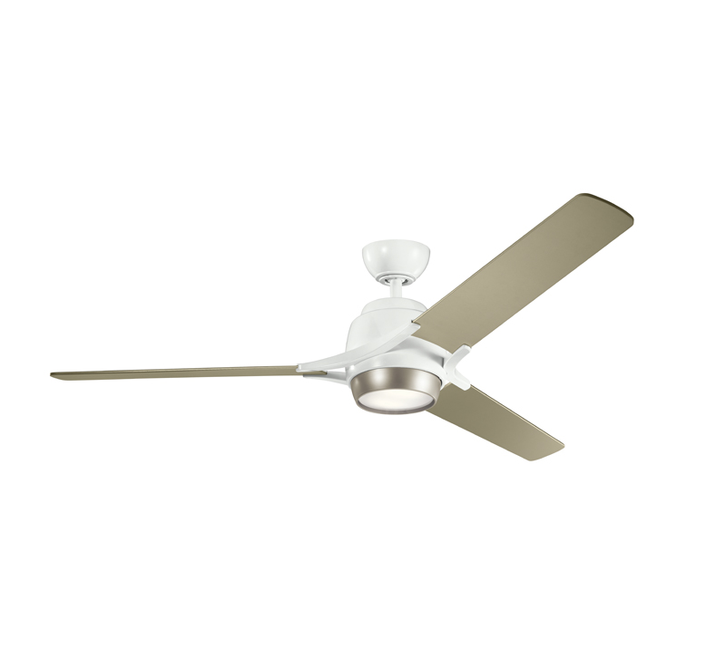 Zeus three-blade, 60-inch Silver Ceiling Fan from Kichler Lighting