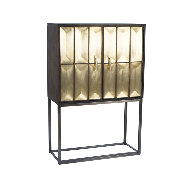 Wood and Metal Cabinet | Furniture Lighting & Decor