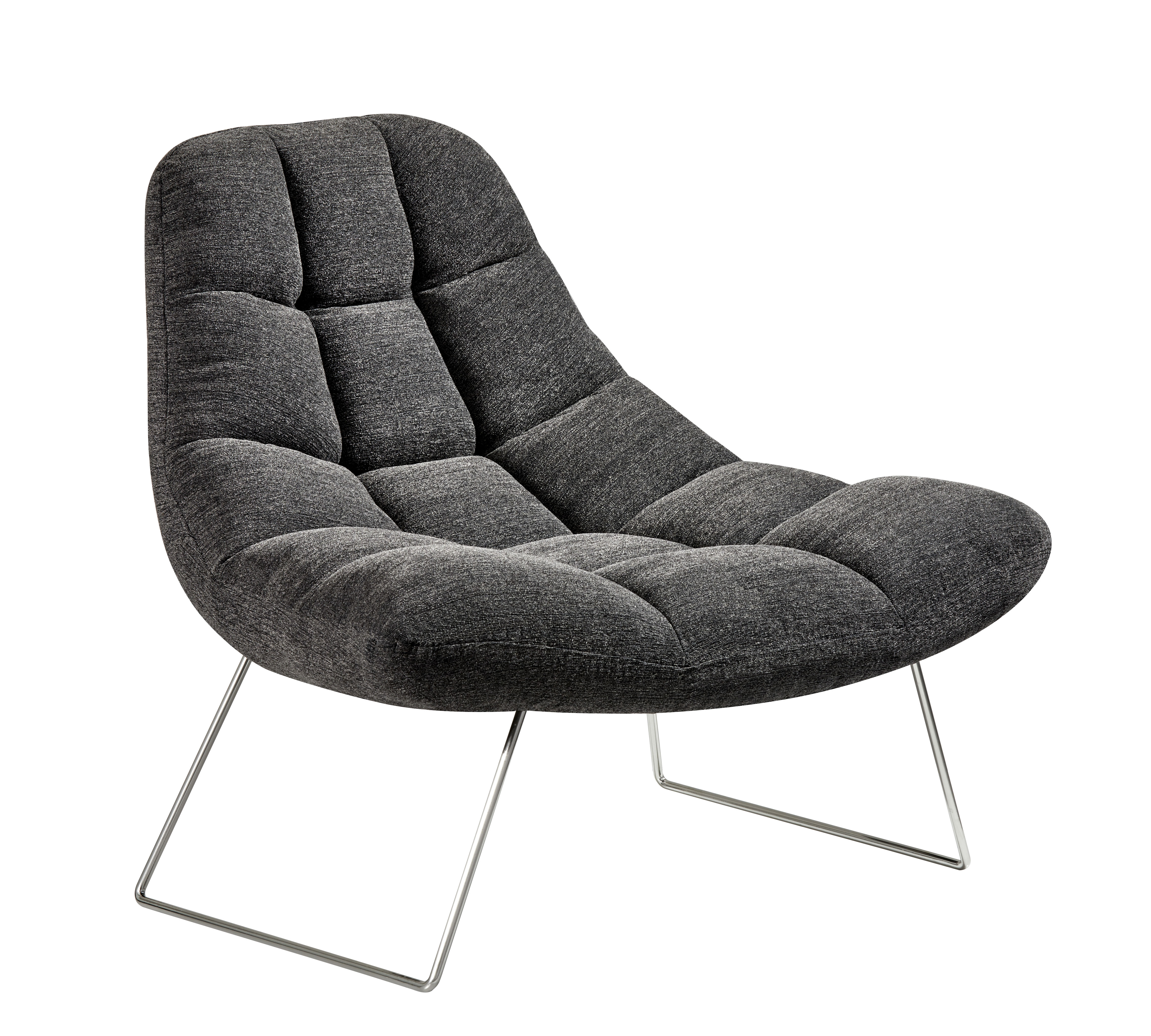 textured charcoal lounging chair