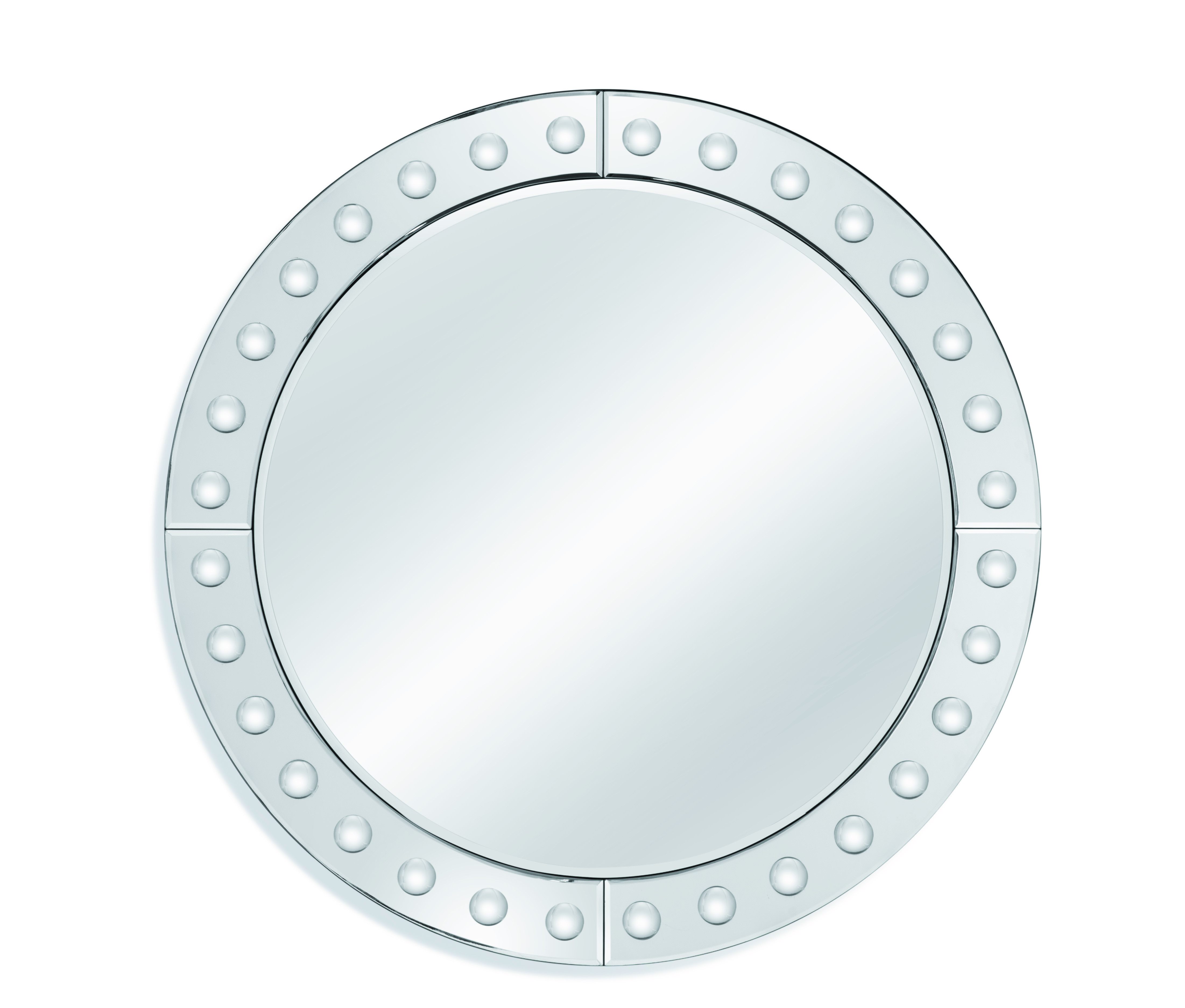 Calisse mirror in silver from Bassett Mirror Company