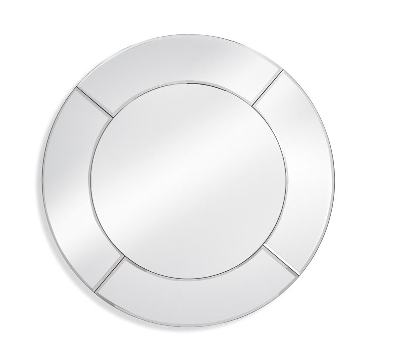 Round Sorento wall mirror from Bassett Mirror Company