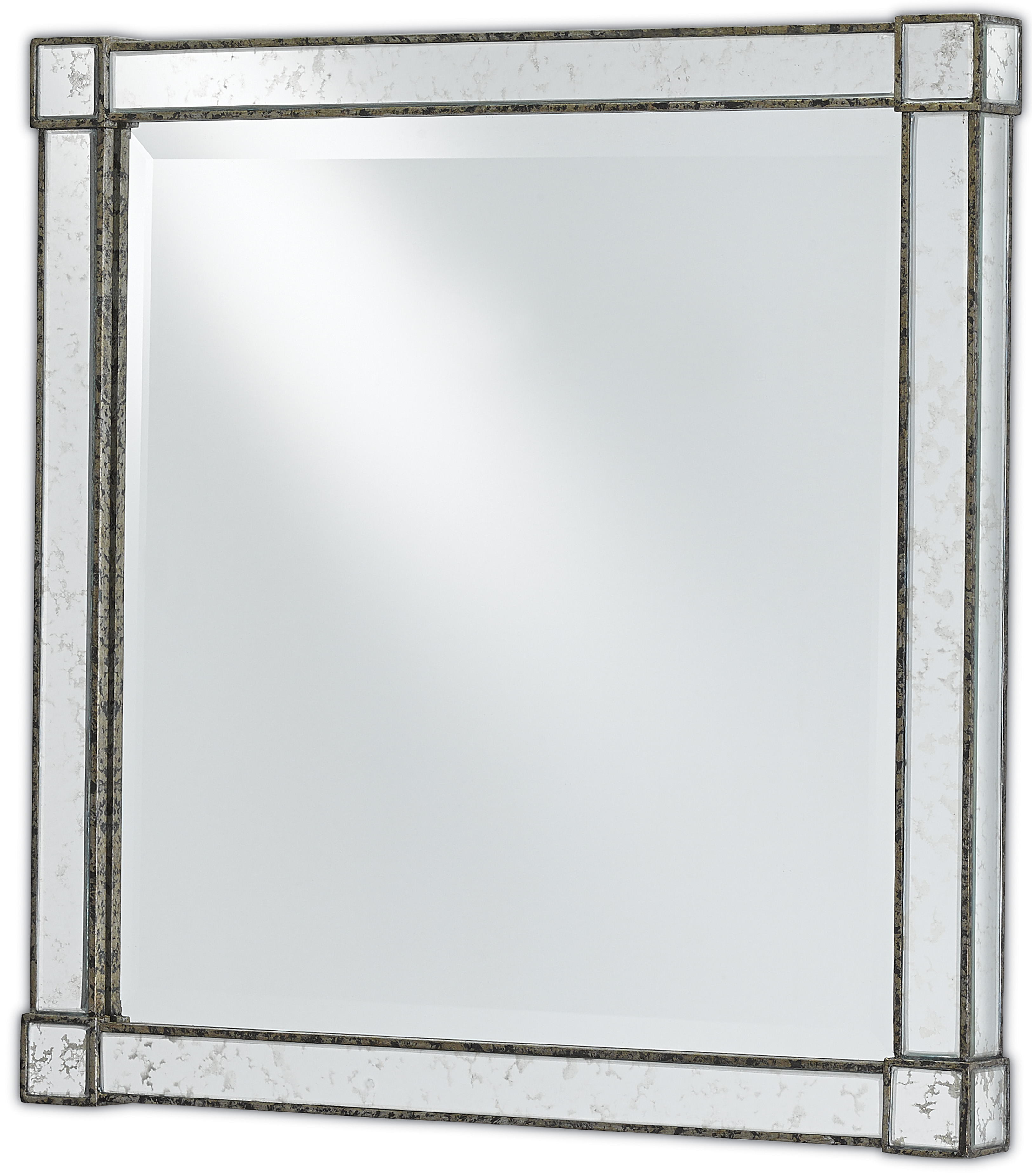 Monarch mirror with antique mirror sides from Currey & Co.