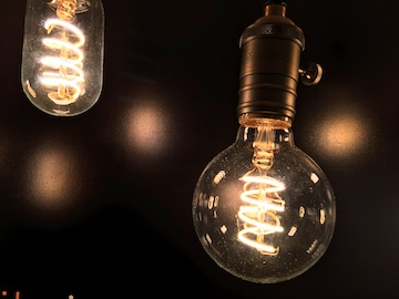 Edison LED bulb fixture
