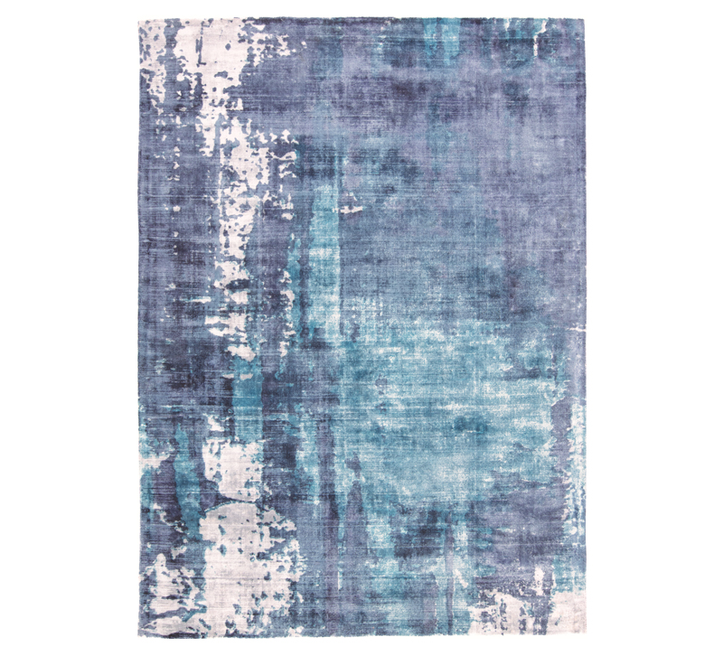 Emory Collection abstract area rug with light blues and purples from Feizy