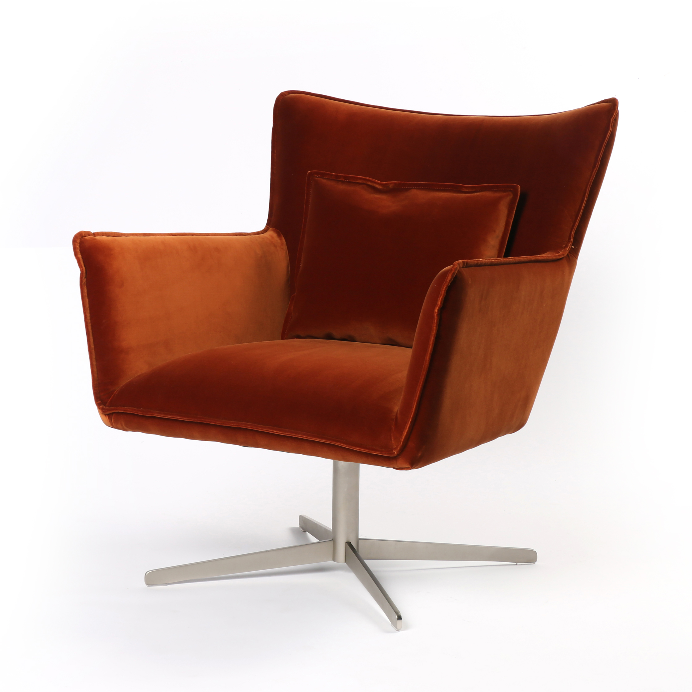 Rust Colored Chair: Lighting & Decor Mag