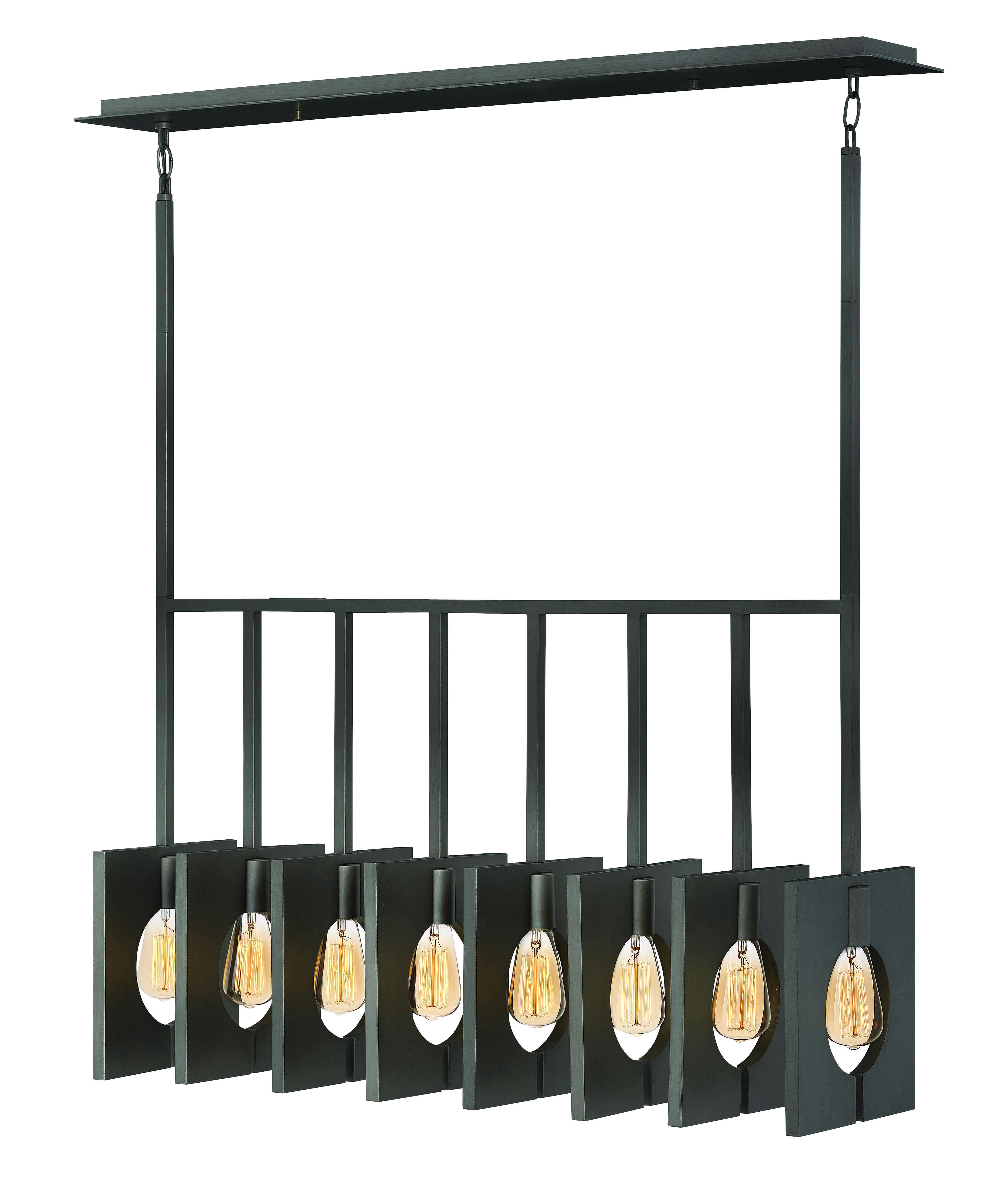Hinkley Ludlow linear chandelier Lisa McDennon