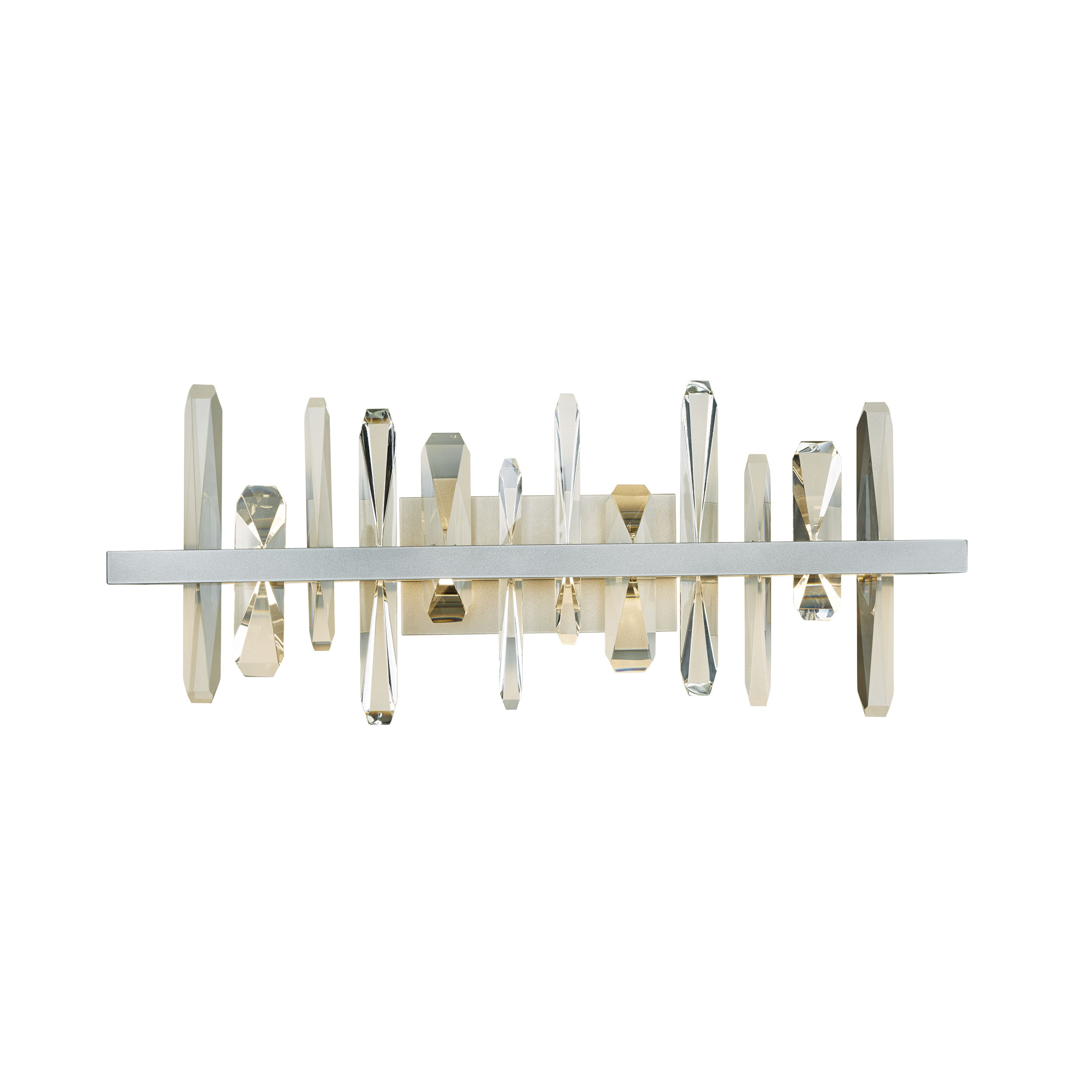 Solitude sconce with crystal towers from Synchronicity by Hubbardton Forge