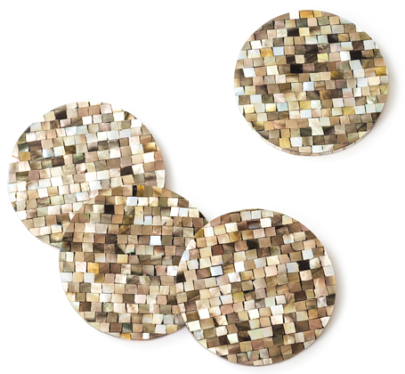 Likha mother of pearl coasters
