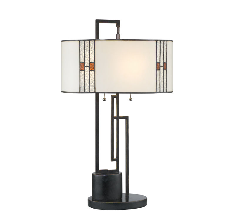 Wilshire table lamp with open rectangular base from Lite Source