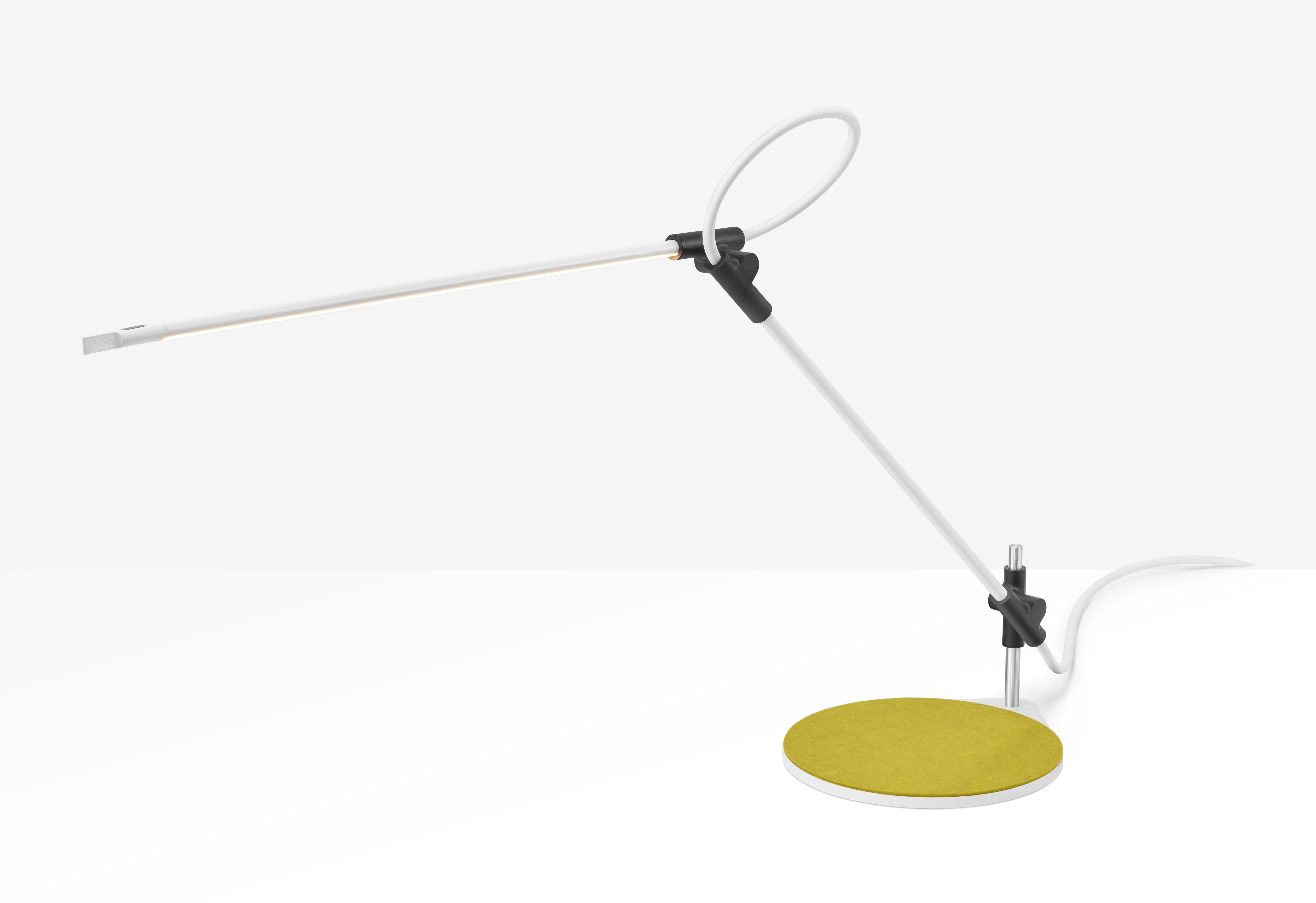 desk lamp with three-axis range of motion