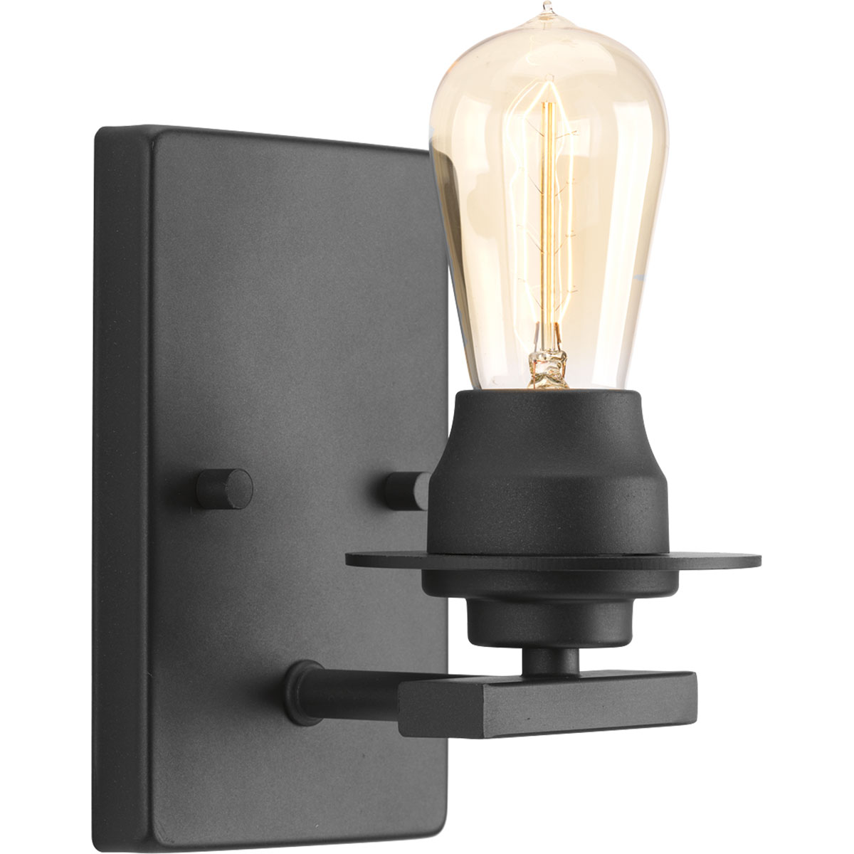 Graphite wall sconce with Edison bulb from Progress Lighting