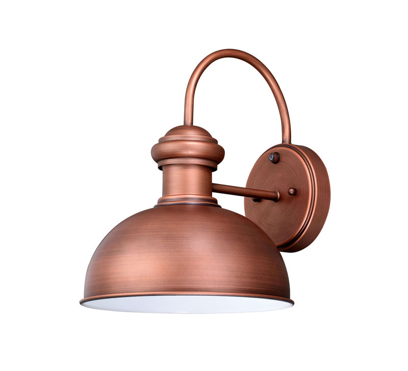 Franklin outdoor wall light finished in copper from Vaxcel