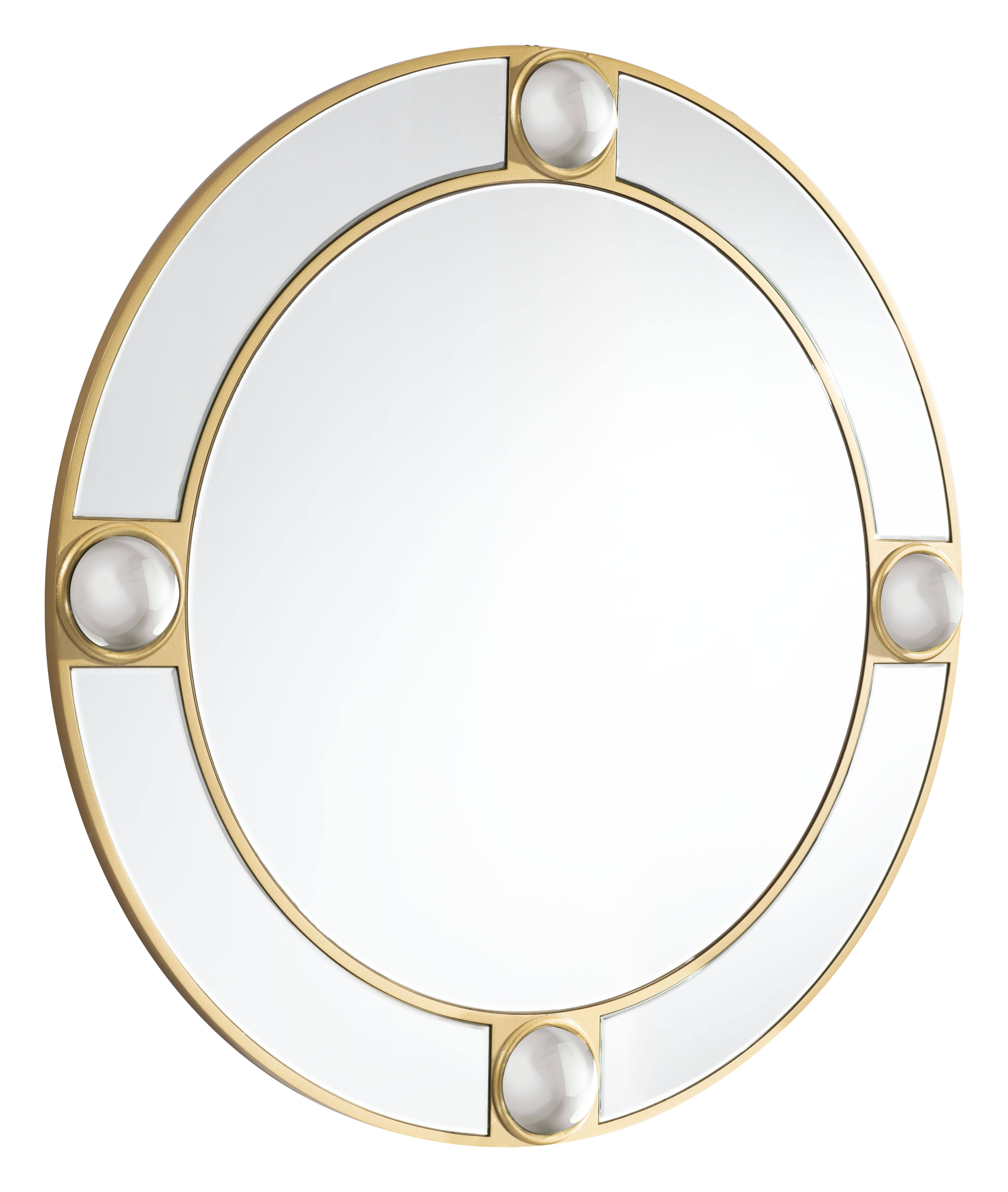 Lucite mirror finished in gold from Zuo Modern