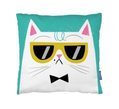 Ohh Deer Cool cat pillow suede